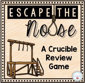 Crucible Review Game Escape Room Ela High School Review Games