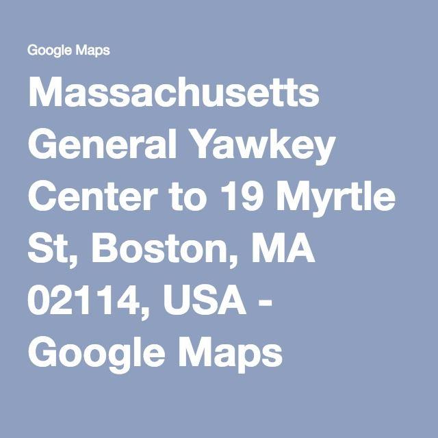 Massachusetts General Yawkey Center to 19 Myrtle St, Boston