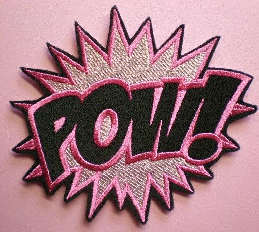 Large Embroidered POW Iron On Applique by ElsieMichelleDesigns