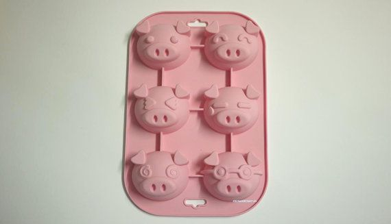 Flexible Mold Silicone Mold Soap Ice Chocolate Mold Muffin Etsy Soap Molds Silicone Pig Soap Molds