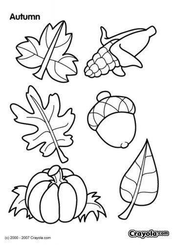 Coloriage Automne Coloriages Halloween Et Automne Herbst Blätter