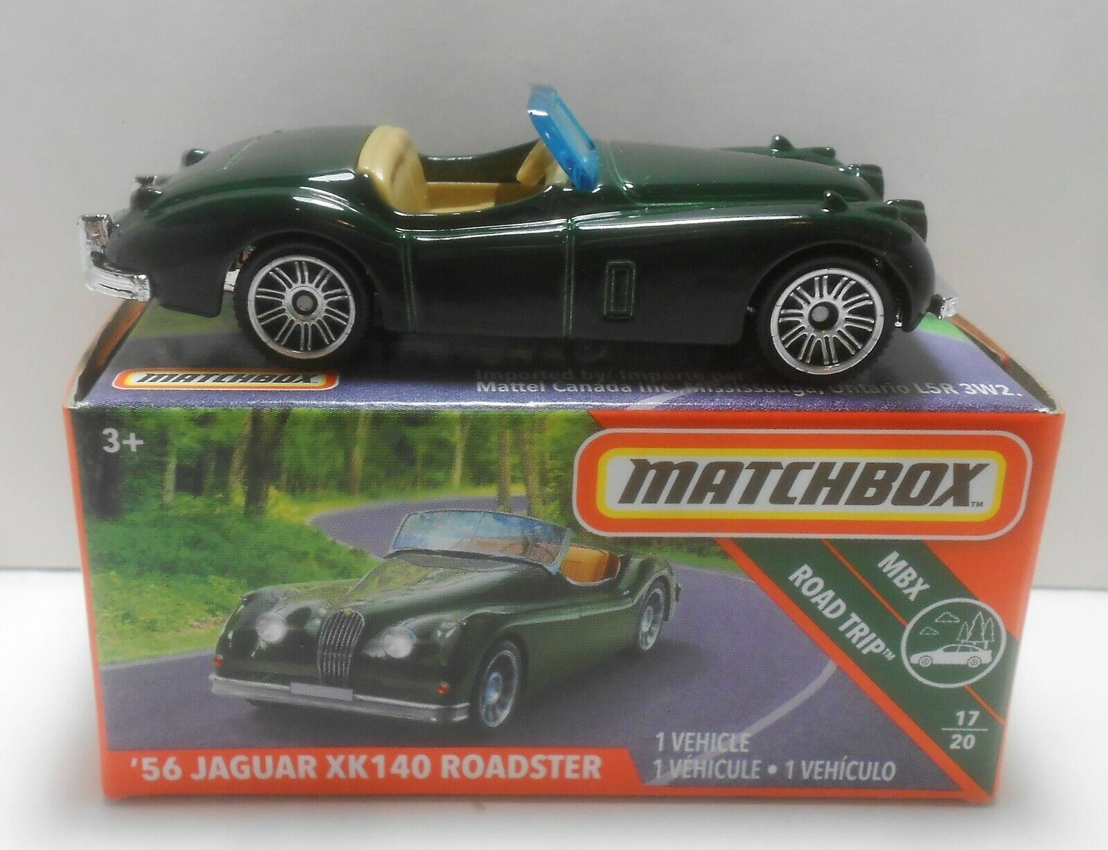 MATCHBOX 2019 POWER GRAB '56 JAGUAR XK140 ROADSTER MBX