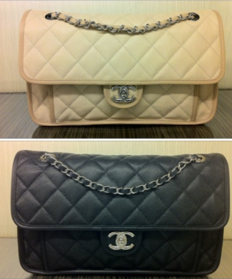 053b09b36fa Chanel Ivory and Black French Riviera Medium Flap Bags | Chanellove ...