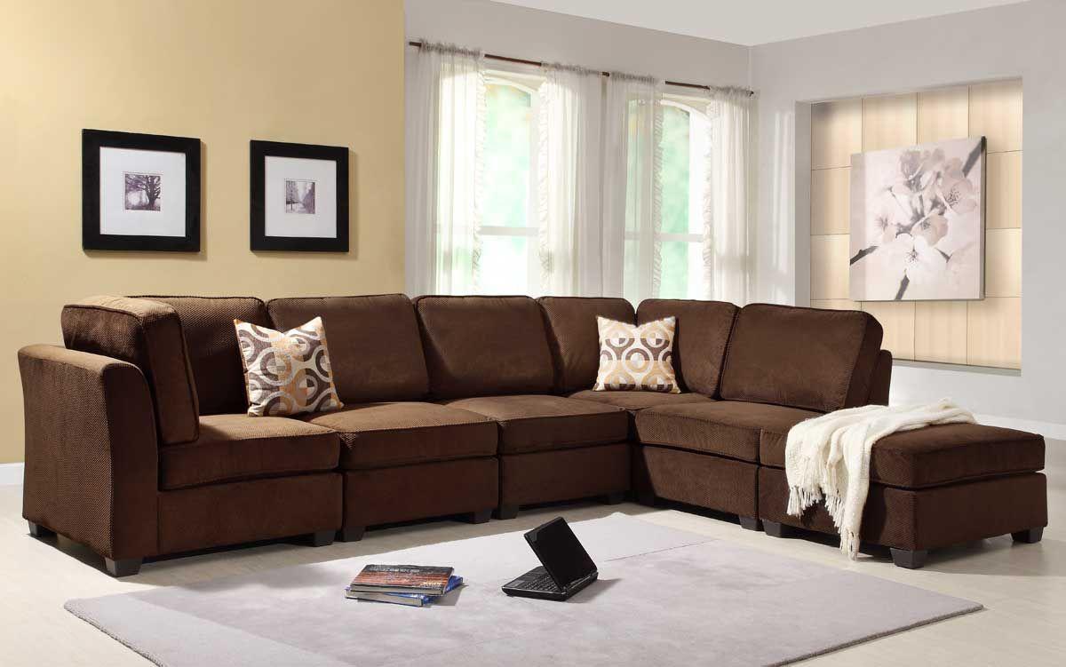 Amazing Homelegance Burke Sectional Sofa Set B Dark Brown Fabric Cjindustries Chair Design For Home Cjindustriesco