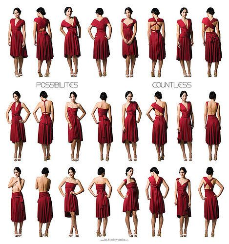 The One Dress Multi Wrap Infinity Wear Convertible Bridesmaids Any Size Short Swing 70 00 Dressconvertible Clothingmultiway