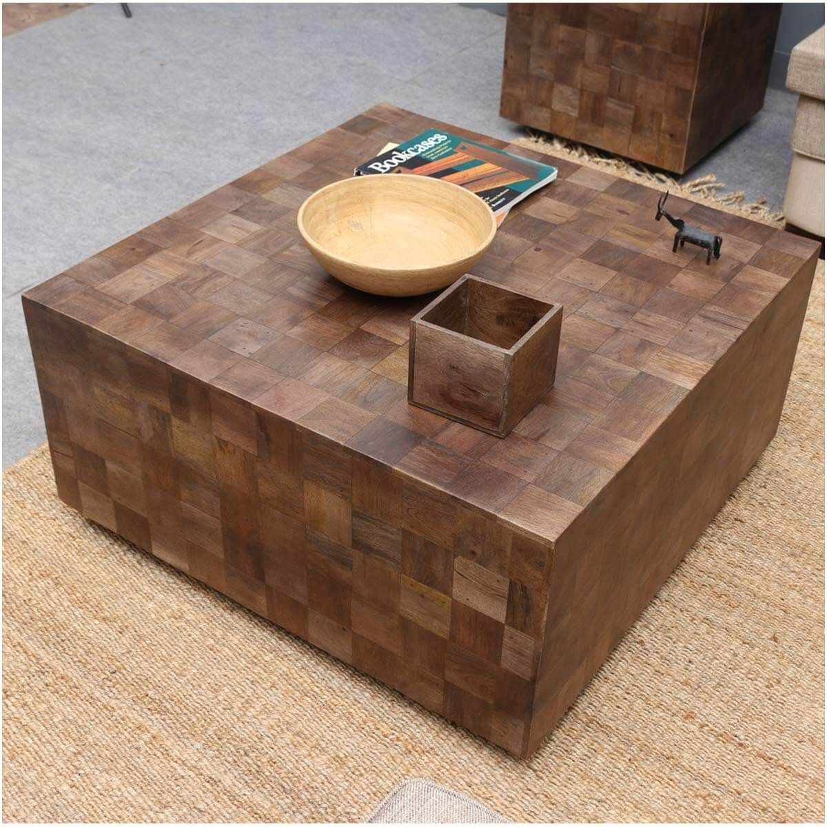 Modern Rustic Furniture Solid Wood 36 Square Coffee Table With Images Modern Rustic Furniture Modern Wood Coffee Table Solid Wood Coffee Table