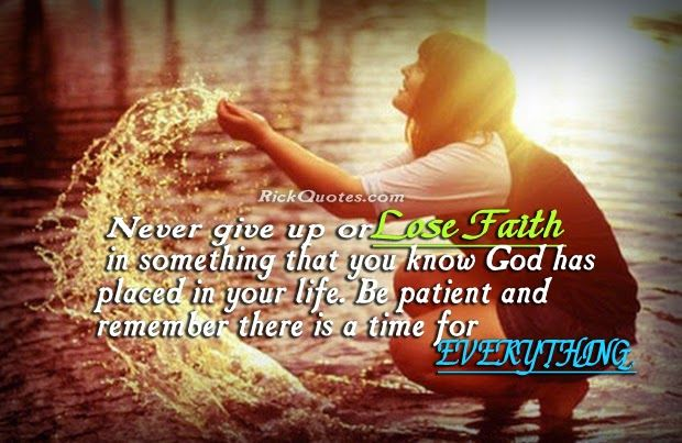 Life Quotes Faith Never Give Up Girl With Water Playing Poems