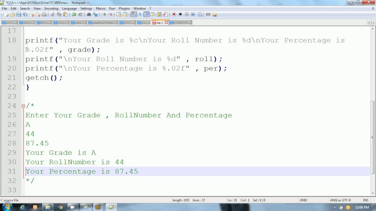 C Programming In Hindi Scanning Multiple Values Using Scanf