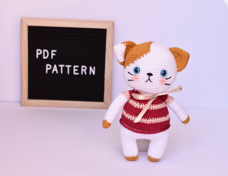 Itty Bitty Kitty   free Christmas cat crochet pattern - Thoresby ...   2318x3000