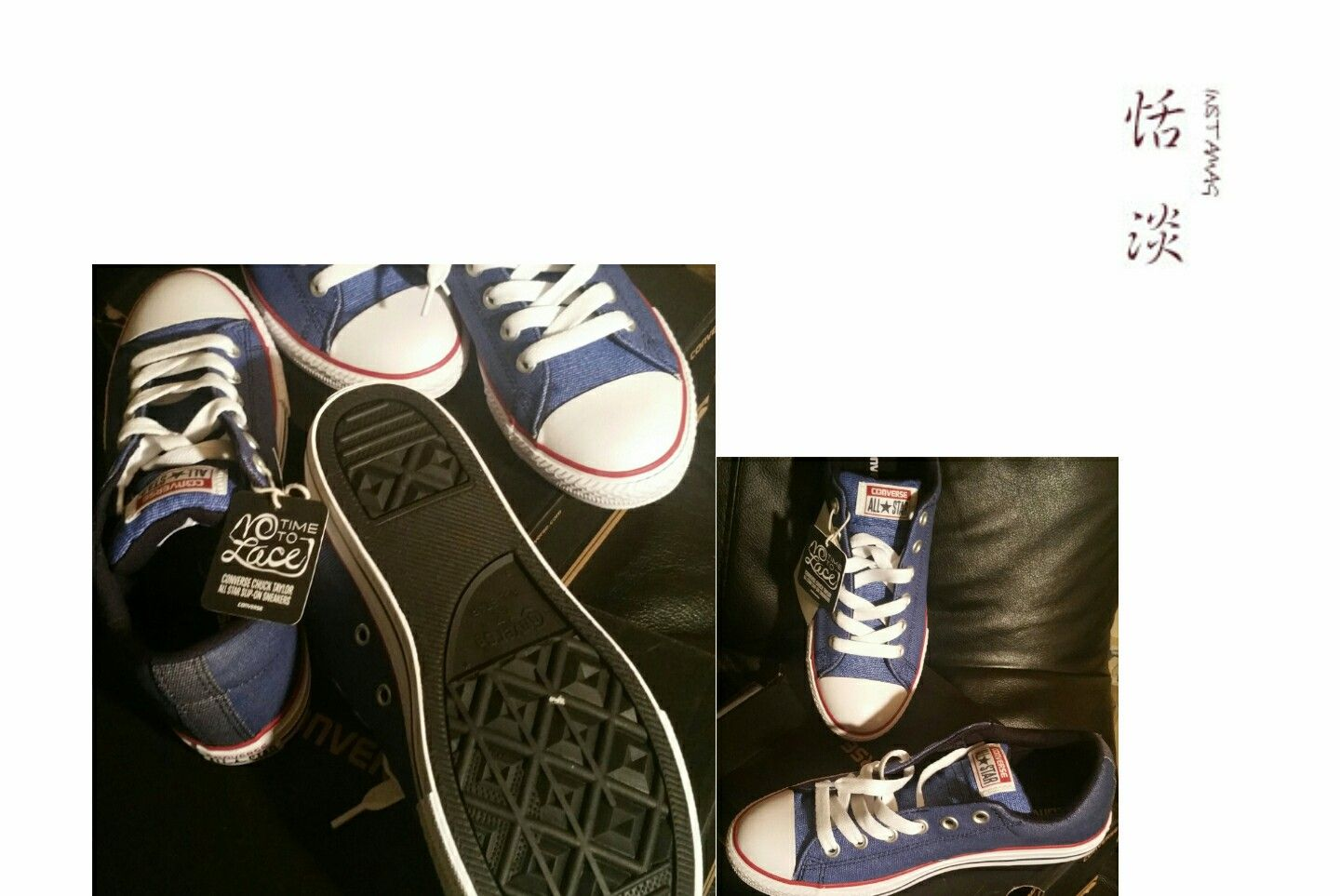 My daughters Limited Edition Converse Coated Blue Denim Sneakers ... b4ab6c3e115bc