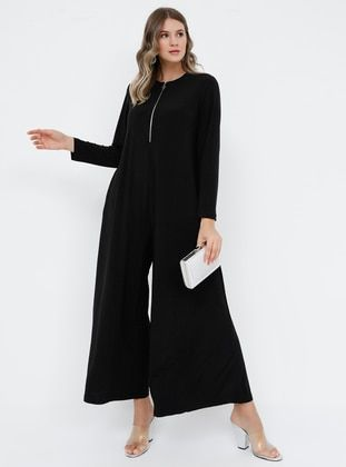 Photo of Black – Unlined – Crew neck – Plus Size Dress