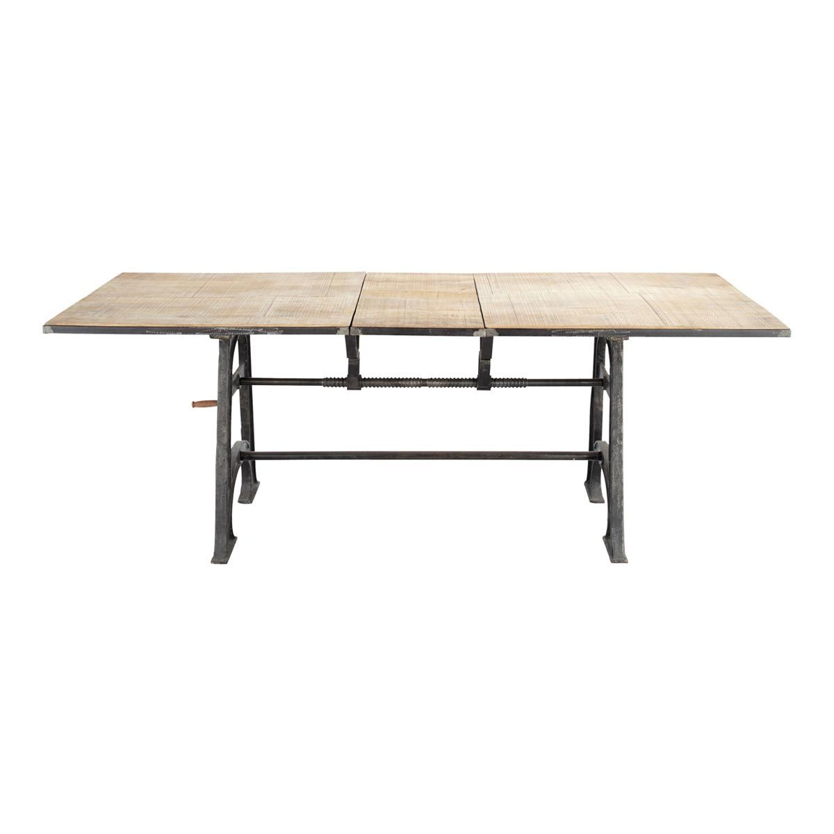 Industrial Extendible Seater Dining Table L wood