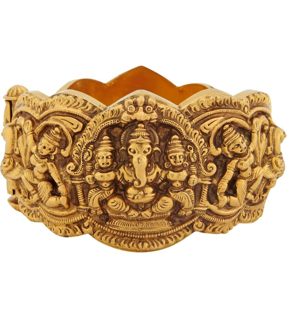 Thai ganesha gold bangle bracelets u cuffs fine jewelry