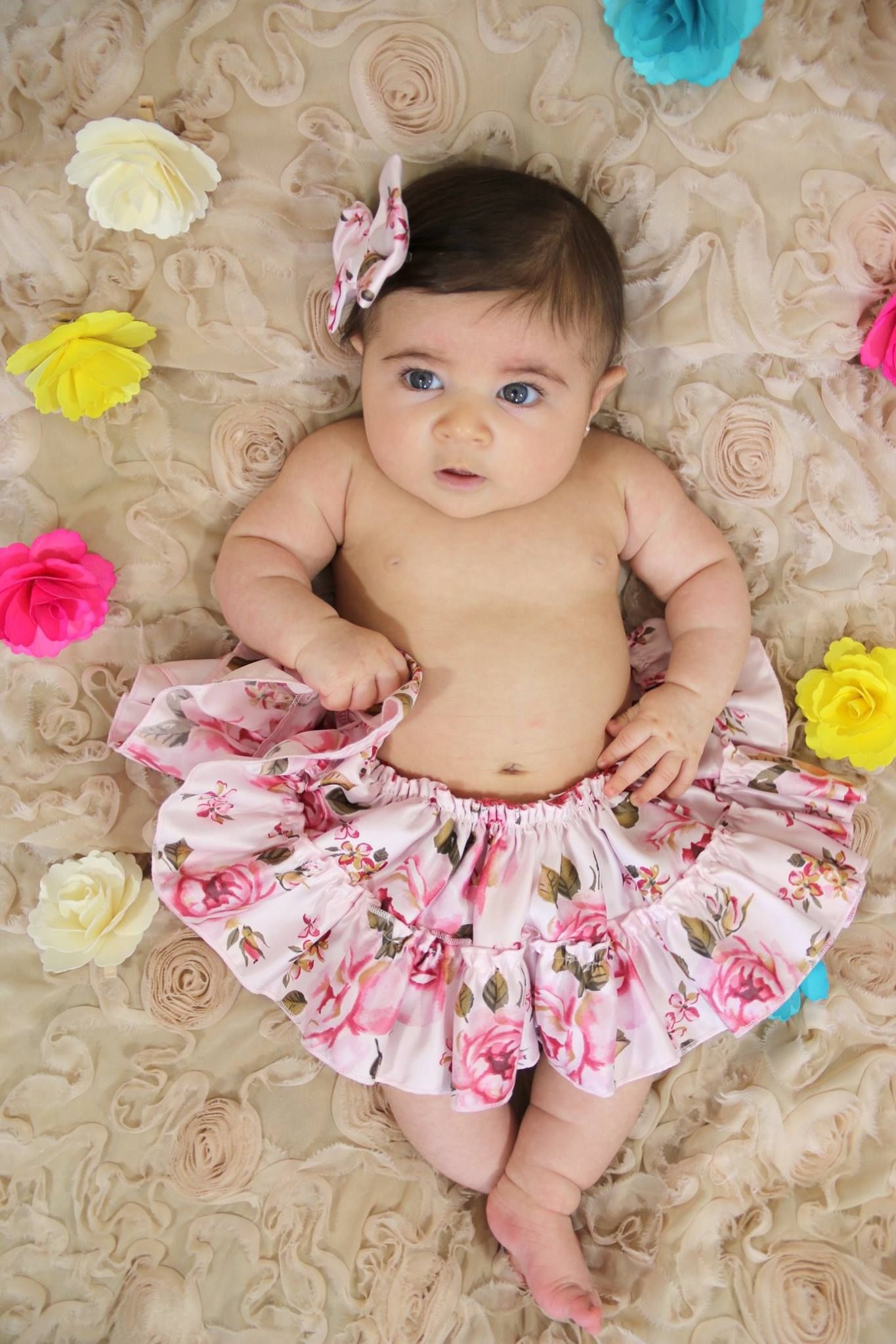 3rd month photoshoot baby girl pictures spring theme