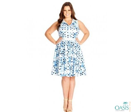 Flirty Ice Blue Skater Dress Is Available At Oasis Plus Size Plus