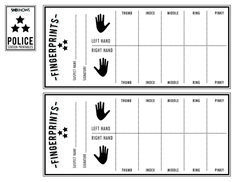 police officer s finger print sheet free printable coloring pages