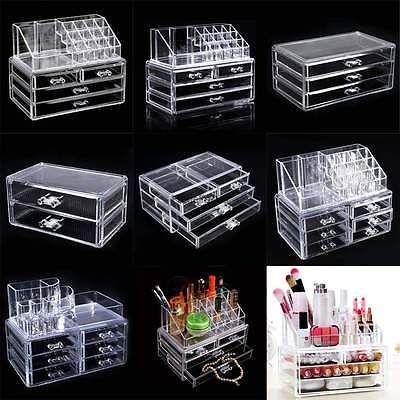 Makeup Case Drawers Cosmetic Organizer Jewelry Storage Acrylic Stand Box Holder