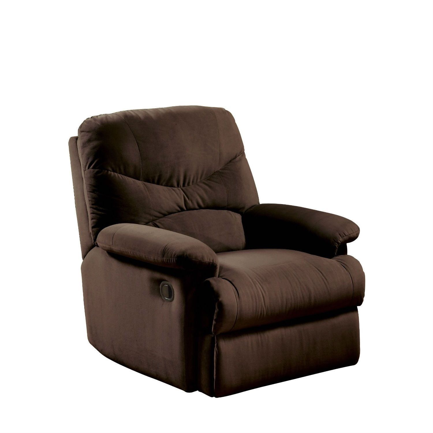 Comfortable Recliner Chair In Chocolate Brown Microfiber