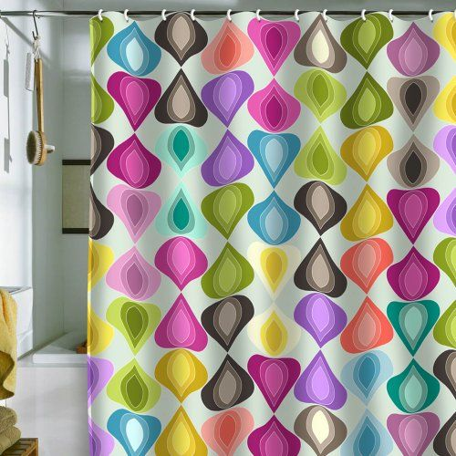 DENY Designs Sharon Turner Candy Gouttelette Shower Curtain 69 Inch By 72