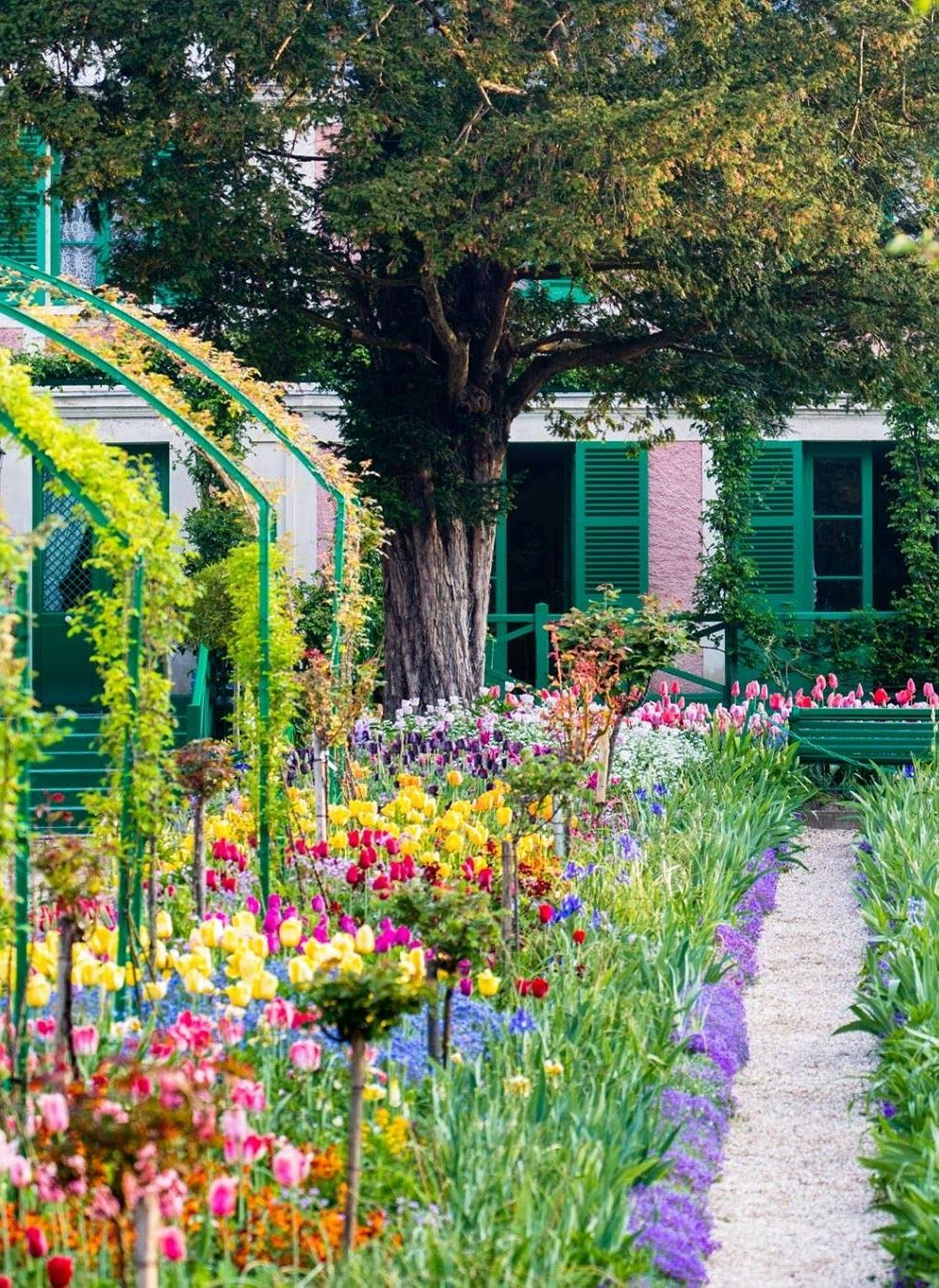 Colorful Gardens Of Claude Monet At Giverny France Claude Monet Colorful Garden Enchanted Garden