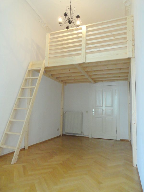 hochbett in altbauwohnung ber tr  GoogleSuche  trailer ideas  Pinterest  Bedroom Room