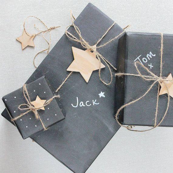 Herbst Tafel Verpackung Papier schwarz Geschenkpapier wieder auf Schule Lehrer vorhanden rustikalen Verpackung Chalk Board Kinder Weihnachtsferien gesetzt