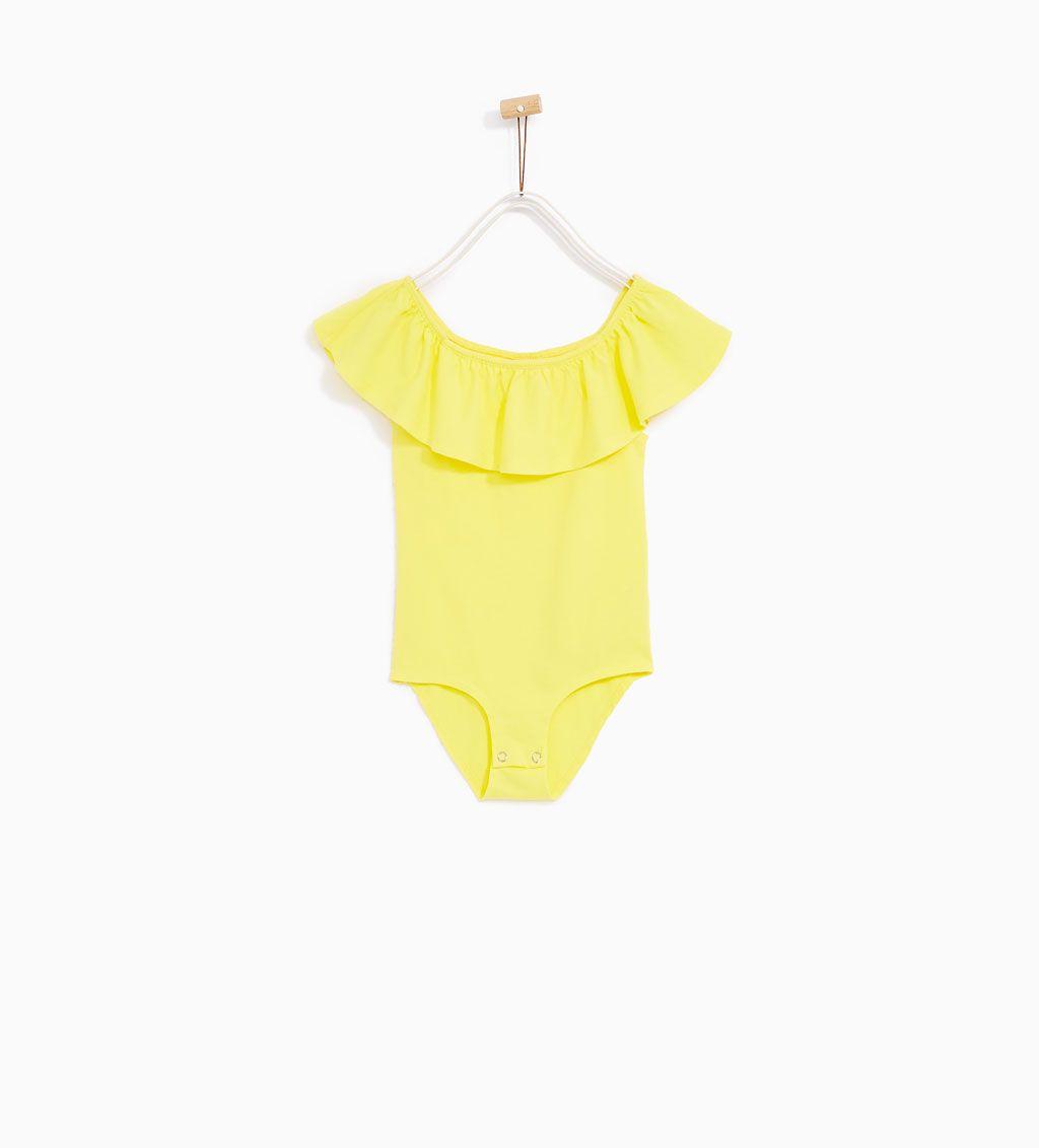 f14bc3128 14 Zara Volants Filles Body Shirts Volant 4 À Enfants Ans T qwRRv0f
