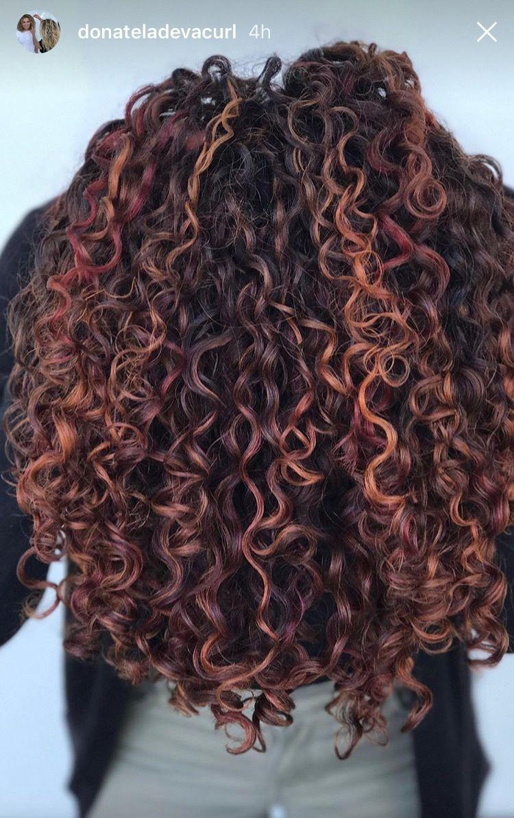 Pintura Highlights On Naturally Curly Hair Pretty