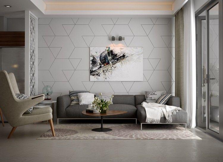 wohnzimmer ideen mit mustertapete wohnzimmer inspiration pinterest mustertapete. Black Bedroom Furniture Sets. Home Design Ideas