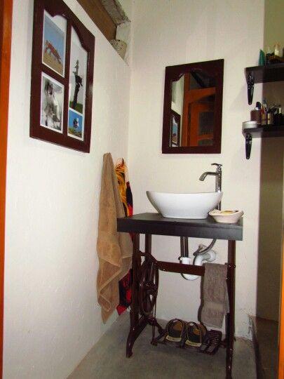Ecodise o lavadero con base de mueble de maquina de coser for Base para lavadero
