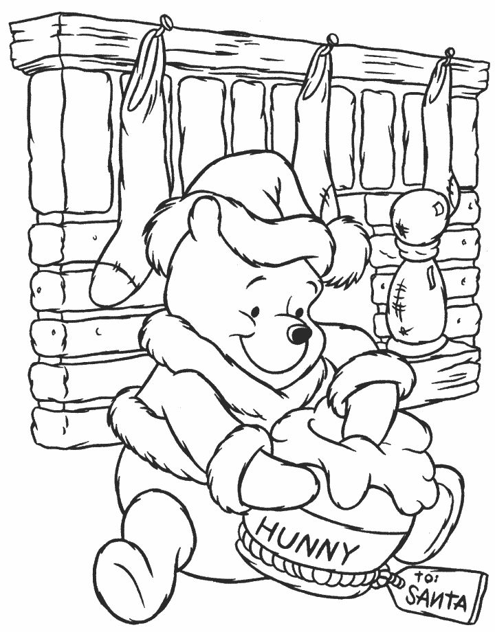 Christmas Coloring Pages Winnie The Pooh