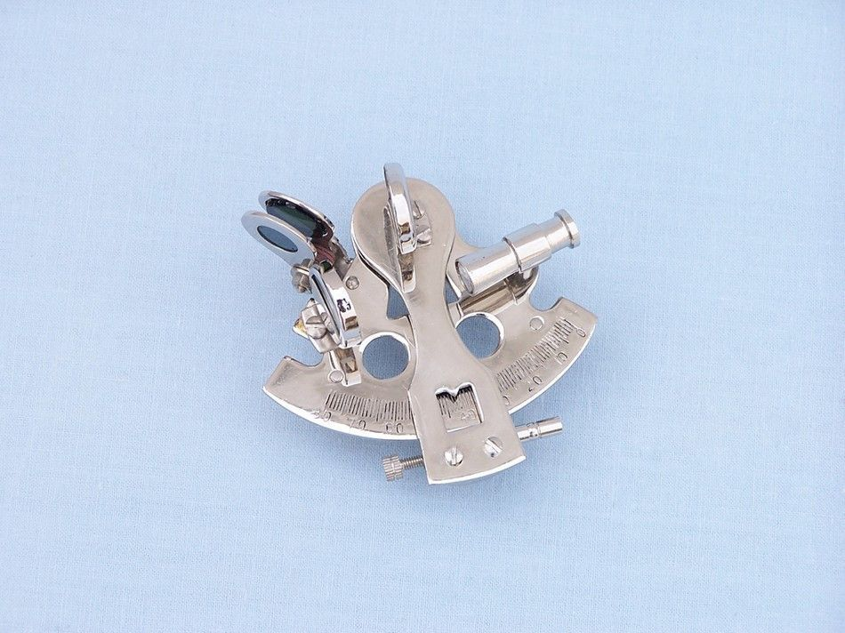 """Chrome Decorative Sextant Paperweight 3"""""""