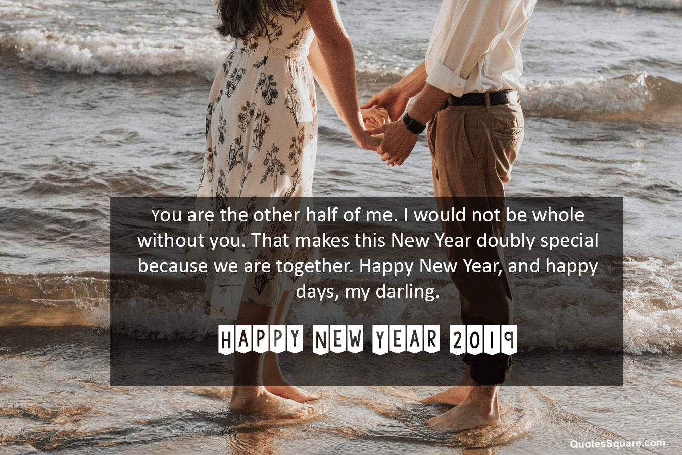 Better half new year 2019 love quotes wishes
