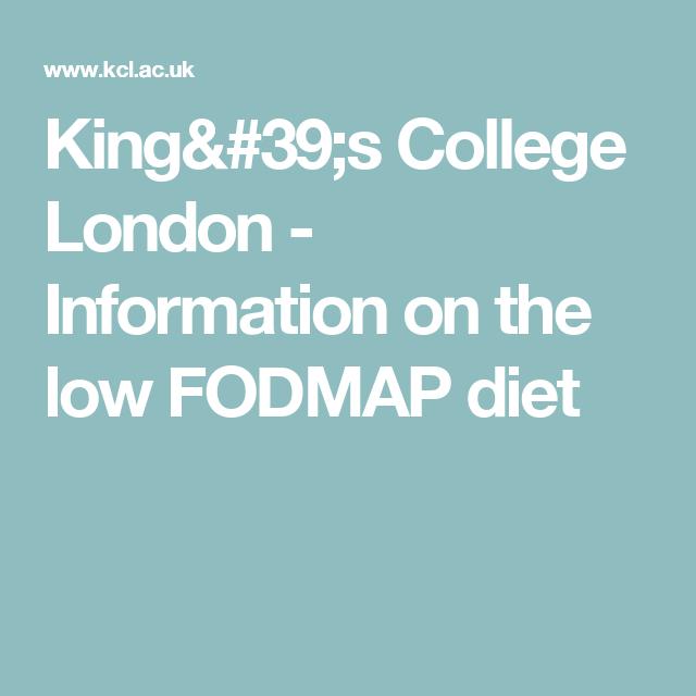 Kings college fodmap