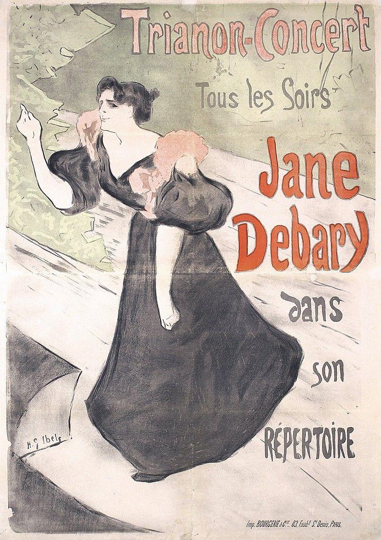 Original 1890s French Art Nouveau Poster IBELS Jan - by PosterConnection Inc.
