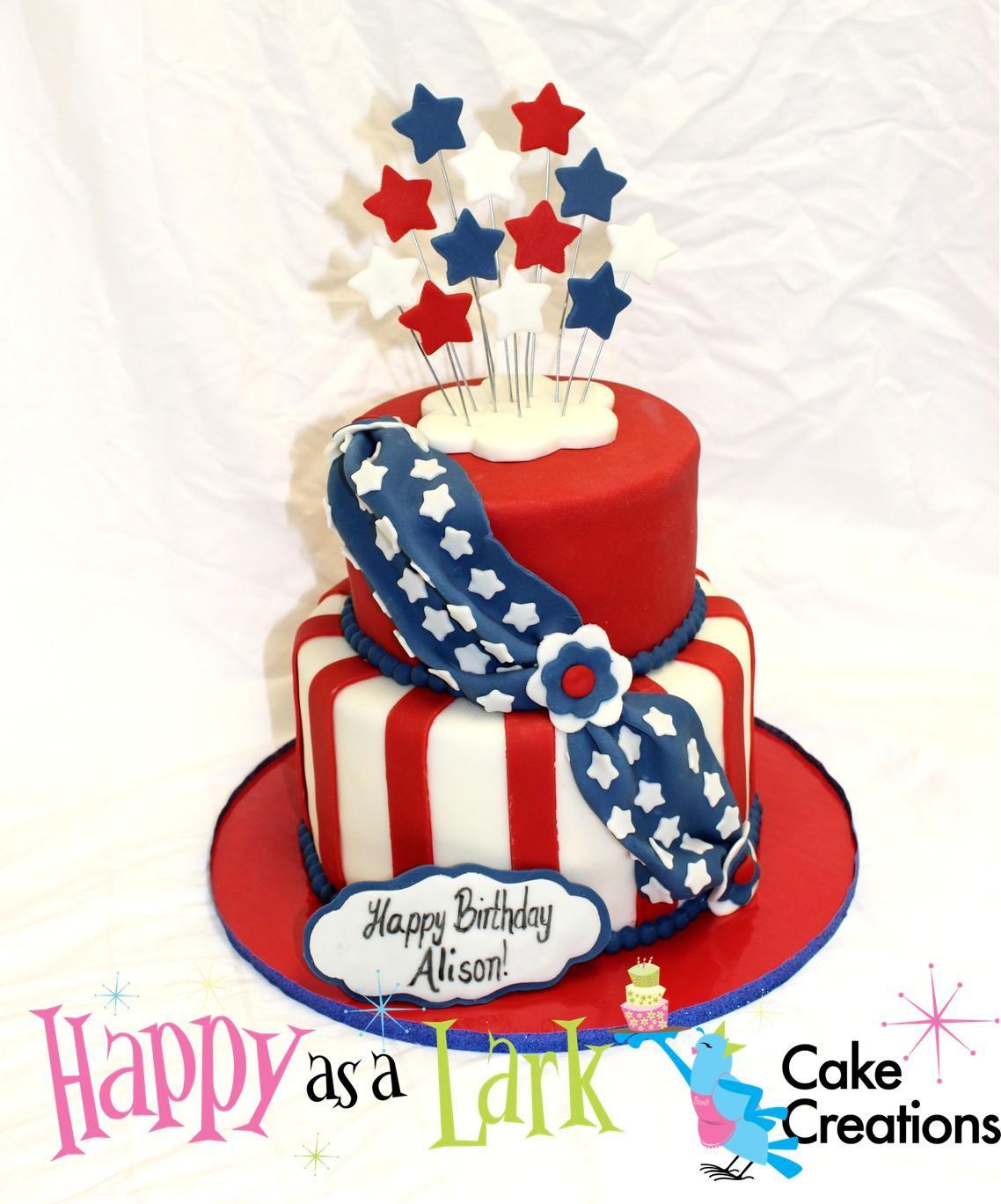 Patriotic Themed Birthday Cake For Mrs Alison Lundergan Grimes