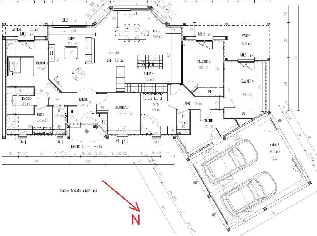 Plan de maisonHaute Garonne (31) Plan déposé pour le permis de