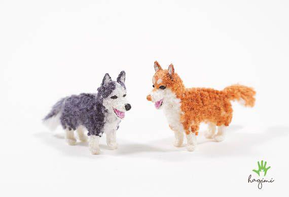 Miniature Husky, Siberian Husky, tiny crochet Husky, amigurumi dog #miniaturehusky