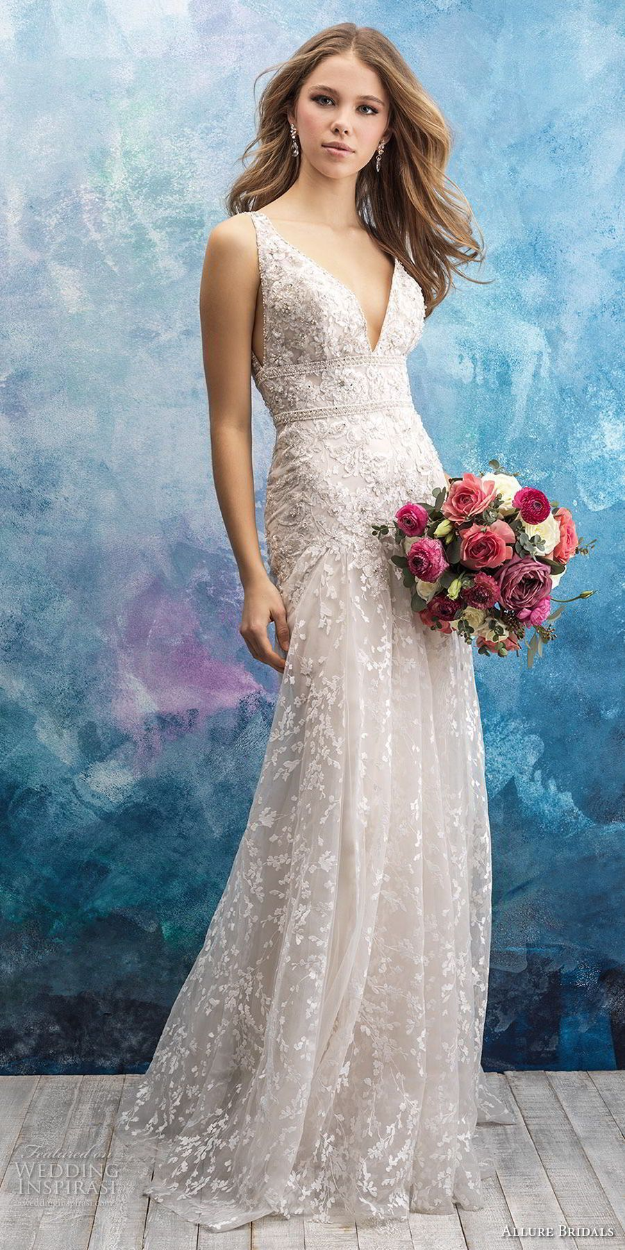 Allure wedding dress  Allure Bridals Fall  Wedding Dresses  Wedding Tips  Pinterest