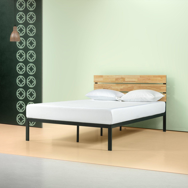Paul Metal And Wood Platform Bed Frame Wood Platform Bed Wood