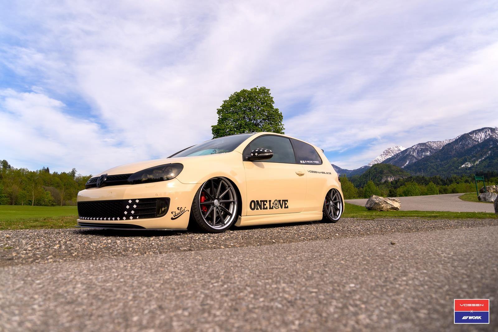 Vw golf r mk6 cars one love - Die Neue Vossen Vws 1 Alufelge Auf Einem Volkswagen Vw Golf Gti Die Felge