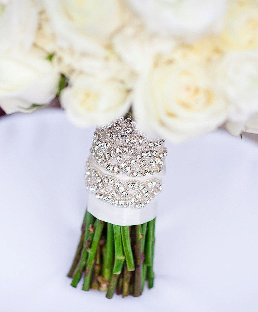 Austine Bouquet Wrap | Crystal bouquet, Wraps and Wedding
