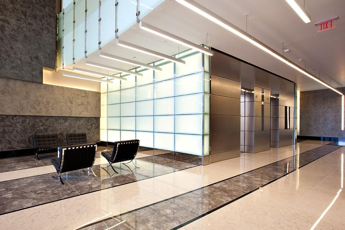 Mirror panels for walls - Levele Wall Cladding System With Float Panels And Custom Panels Shown In Stainless Steel With Satin Finish Elevator Doors Shown In Stainless Steel With