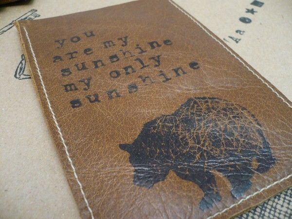 iphone ipod case leather simple sleeve handprinted you are my sunshine. $14.00, via Etsy.