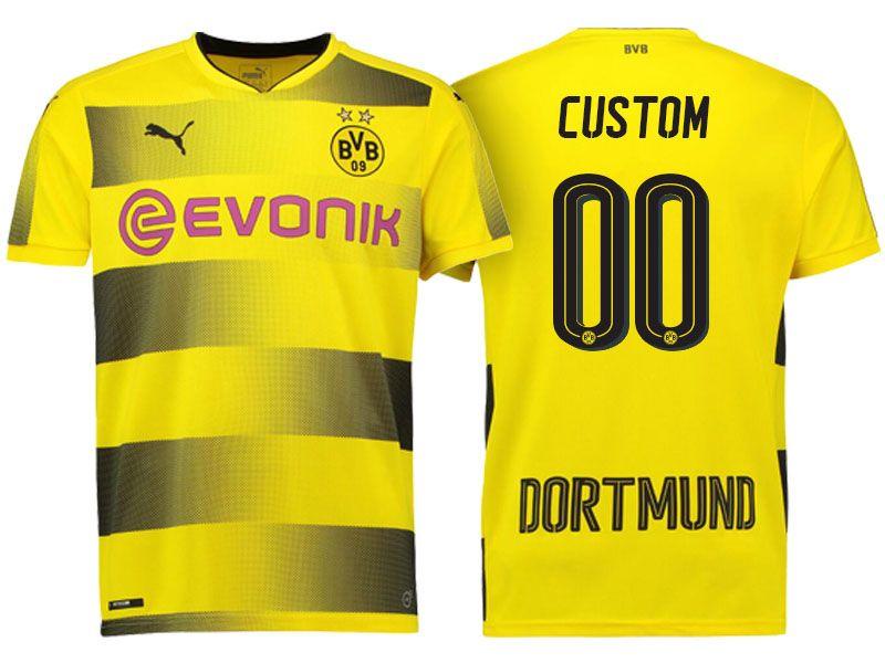 Borussia Dortmund Yellow Home 2017-18 Customized Jersey
