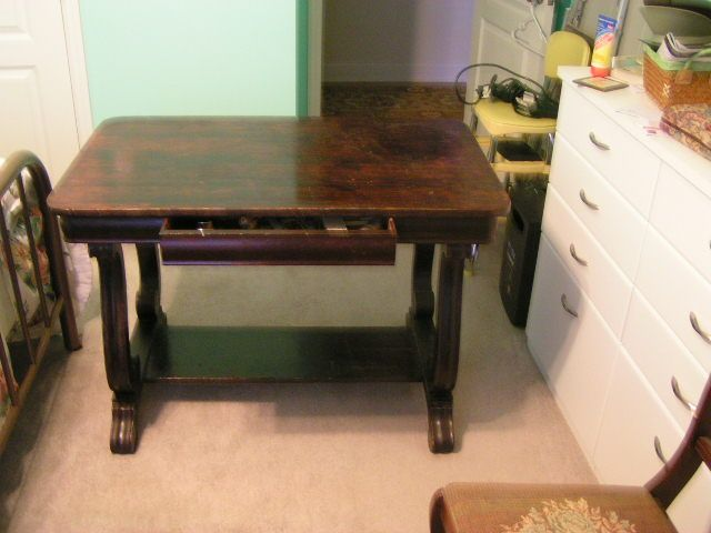 Antique Library Table Over 100 Years Old Library Table