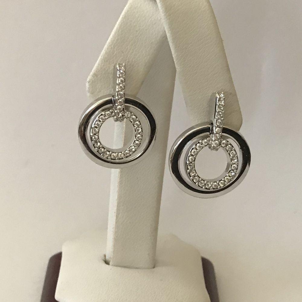 c84a8fb4cc8d4 SWAROVSKI Circle Crystal Mini Pierced Earrings...BEAUTIFUL ...