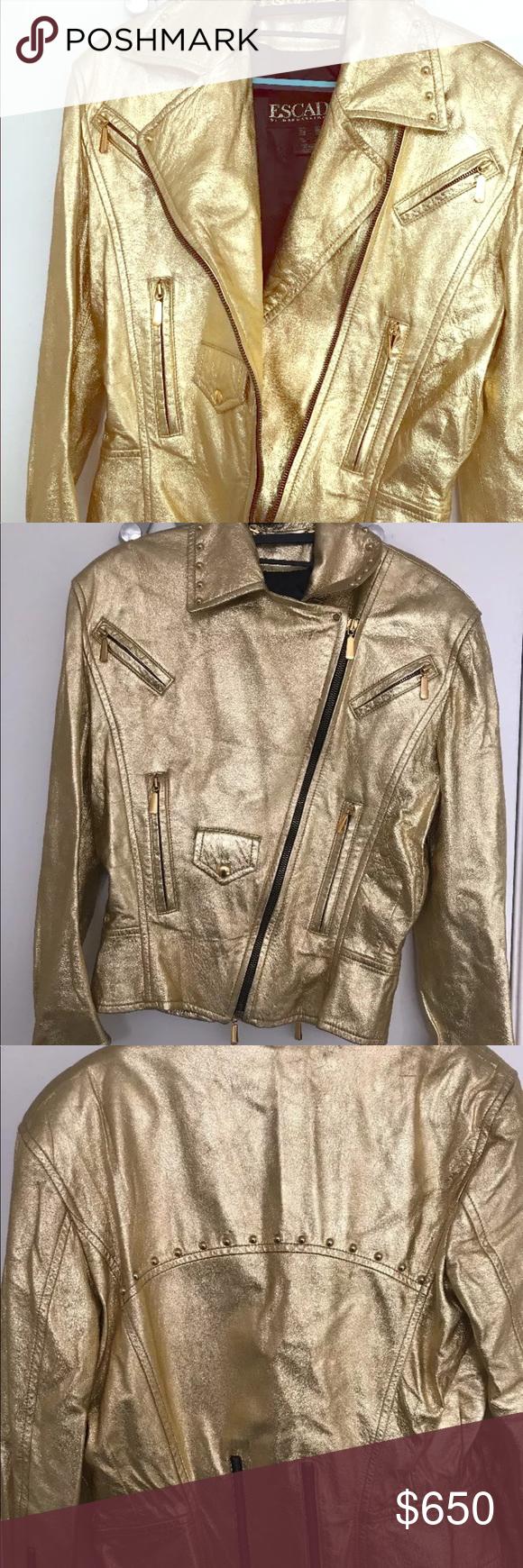 Rare Escada By Margaretha Ley Gold Leather Jacket Vintage Escada By Margaretha Ley Gold Leather Jacket In Great C Vintage Leather Jacket Jackets Escada Jacket [ 1740 x 580 Pixel ]