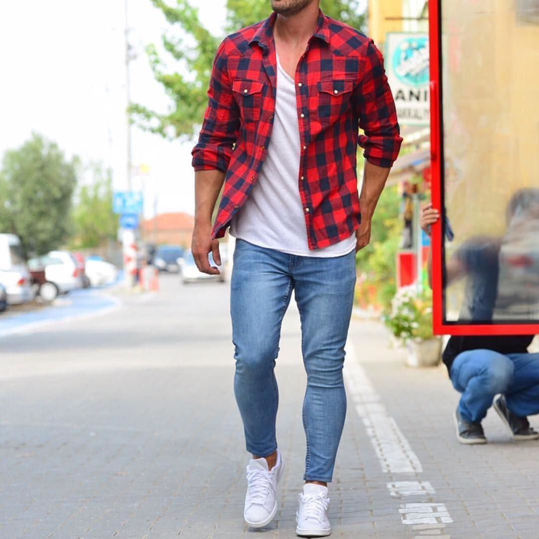 Red flannel shirt black jeans  Menus Fashion Instagram Page  Menus fashion Man style and Fashion