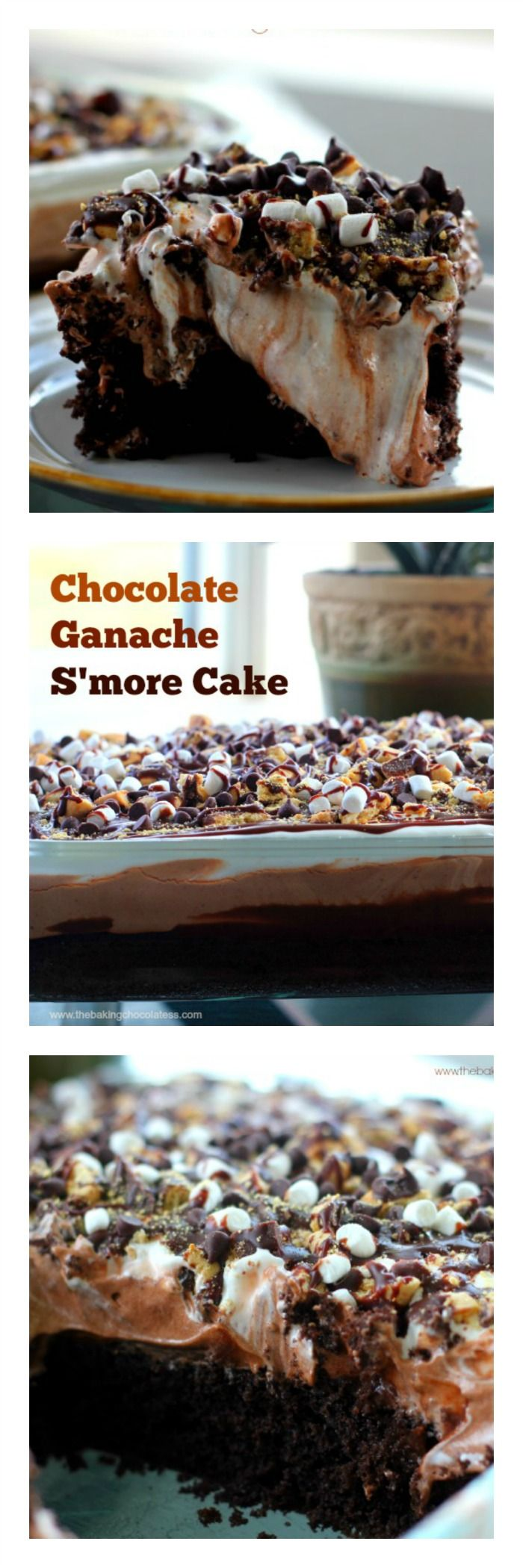 Chocolate Ganache S'More Cake {It's What Sweet Dreams are Made of} via @HTTP://www.pinterest.com/BaknChocolaTess/